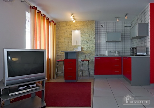 Studio red apartment with balcony, Studio (24233), 002