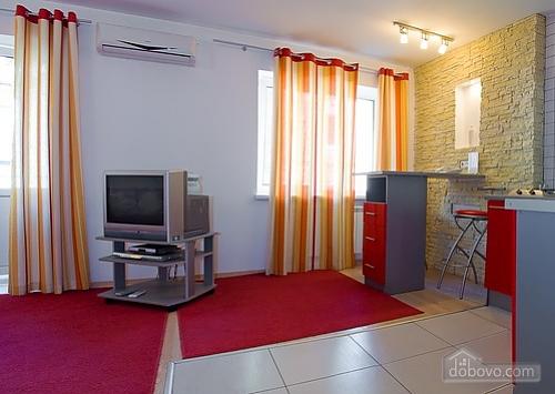 Studio red apartment with balcony, Studio (24233), 003