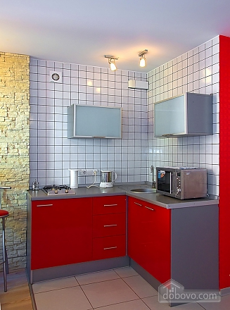 Studio red apartment with balcony, Studio (24233), 007
