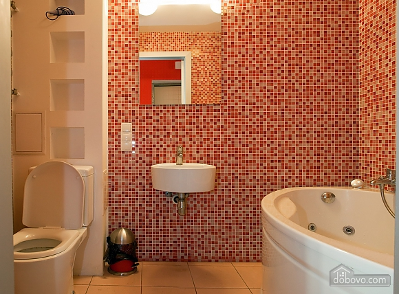 Studio red apartment with balcony, Studio (24233), 009