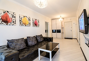 Luxury one-bedroom king-size bed apartment with bath and shower, One Bedroom, 001