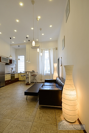 Street view one-bedroom jaсuzzi apartment with balcony and kitchen, One Bedroom (91913), 011