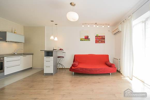 White family jaсuzzi apartment with balcony and sofa bed, One Bedroom (24431), 005