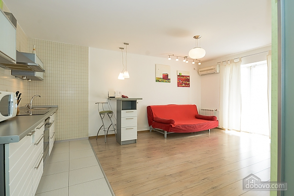 White family jaсuzzi apartment with balcony and sofa bed, One Bedroom (24431), 006