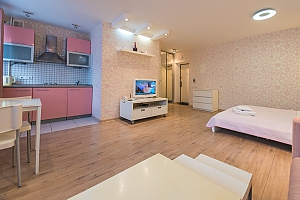 Pink spacious studio apartment with jacuzzi and balcony, Studio, 003