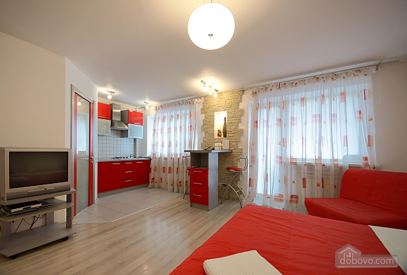 Red and White studio apartment with balcony and kitchenette, Monolocale (92309), 007