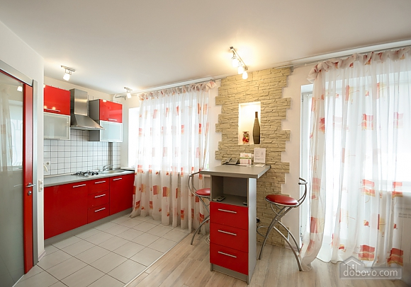 Red and White studio apartment with balcony and kitchenette, Monolocale (92309), 008