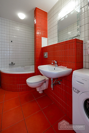 Red and White studio apartment with balcony and kitchenette, Monolocale (92309), 009