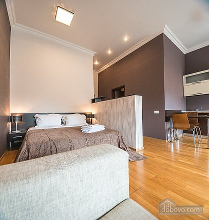 Spacious street view studio apartment with jaсuzzi and sofa bed, Studio (92441), 006