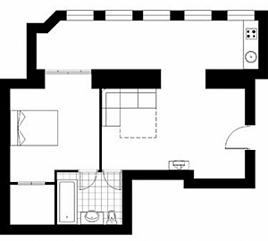 24 Preobrazhenska, Un chambre, 017