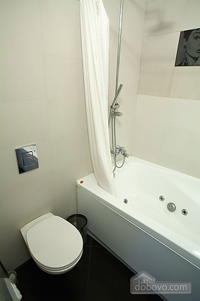 Stylish Black & White one-bedroom apartment with king-size bed, Zweizimmerwohnung (26013), 009