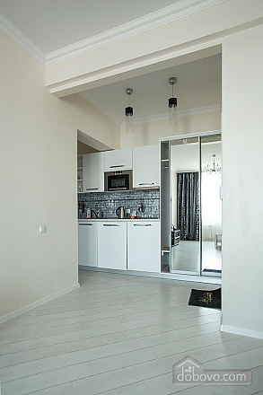 Stylish Black & White one-bedroom apartment with king-size bed, Zweizimmerwohnung (26013), 014