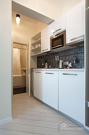 Stylish Black & White one-bedroom apartment with king-size bed, Zweizimmerwohnung (26013), 015