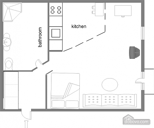 Spacious apartment in the heart of Kiev, Studio (49518), 004