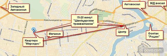 Квартира в центре в районе Вишенки, 2х-комнатная (14656), 003