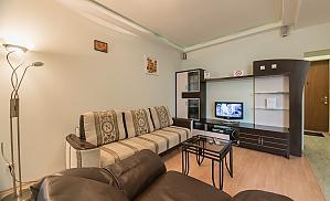 Комфортабельні апартаменти з 1 спальнею та видом на вулицю, 2-кімнатна, 001