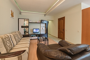 Комфортабельні апартаменти з 1 спальнею та видом на вулицю, 2-кімнатна, 002