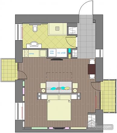 Дизайнерська квартира біля Майдану Незалежності, 2-кімнатна (38858), 014
