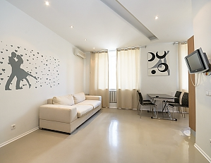 Bright and lovely one-bedroom apartment with jacuzzi, Una Camera, 003