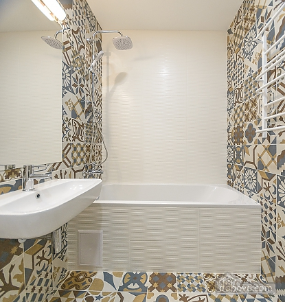 Modern designed one-bedroom apartment with bathtub, Zweizimmerwohnung (53511), 008