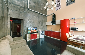 Penthouse in loft style, Tre Camere, 002