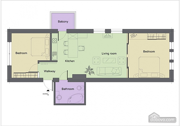 Apartment with excellent interiors, Two Bedroom (48134), 011