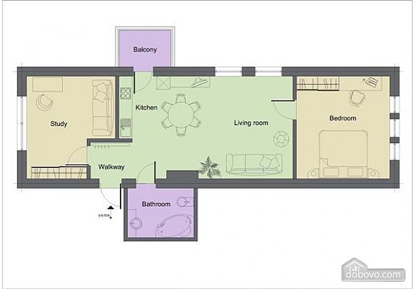 Stylish accommodation in the center of Chisinau, Zweizimmerwohnung (79437), 011