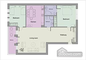Wonderful apartment, Two Bedroom (65353), 011