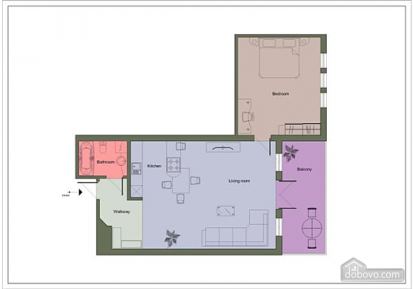 Great apartments with beautiful interior design, Un chambre (65853), 011