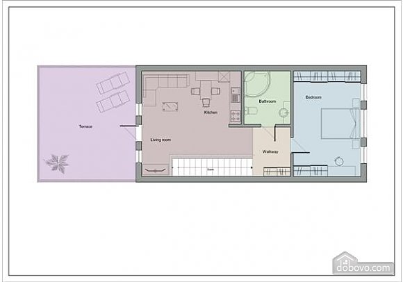 Светлые апартаменты в центре, 2х-комнатная (80358), 008