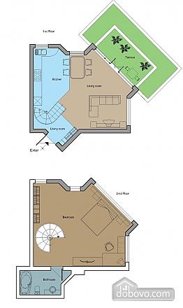 Stylish apartment in the center, Zweizimmerwohnung (43880), 010