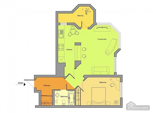 Квартира з усіма зручностями, 2-кімнатна (17619), 007
