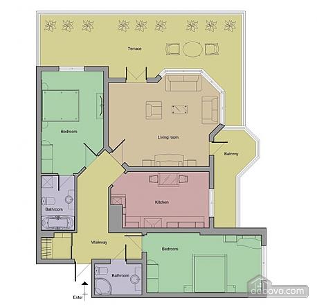 Большая просторная квартира, 3х-комнатная (41110), 007