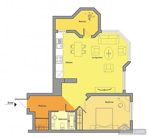 Велика квартира в центрі, 2-кімнатна (34943), 008