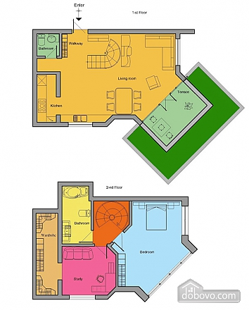 Big nice apartment, Two Bedroom (38872), 011