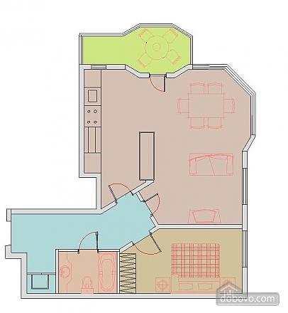 Квартира с хорошим месторасположением, 2х-комнатная (59700), 011