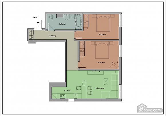 Апартаменти в центрі столиці, 3-кімнатна (35925), 011