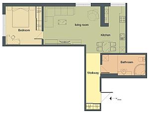 Апартаменты в двух шагах от центра, 2х-комнатная, 011