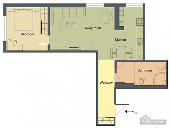 Apartment a stone's throw from the center, One Bedroom (55339), 011