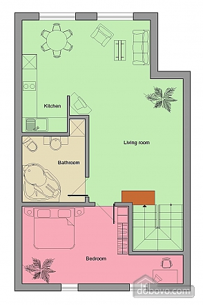 Apartment on Varlaam, One Bedroom (69051), 011