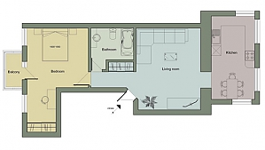 Apartments for Metropolit Varlaam Street, One Bedroom, 011