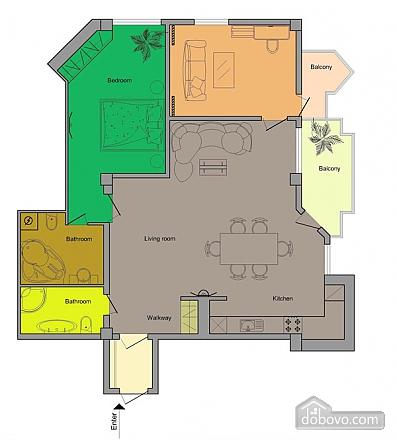 Апартаменты в жилом комплексе De Luxe, 3х-комнатная (80078), 008