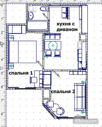 Oasis - the most beautiful apartment on Tairovo, Two Bedroom (15664), 011