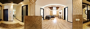 Luxurious accommodation in the city center of Kharkov, Dreizimmerwohnung, 003