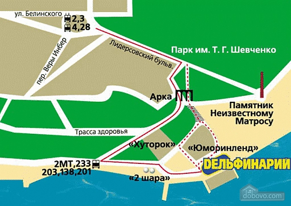 Центр Пляж Ланжерон Парк Шевченко, 1-комнатная (32857), 029