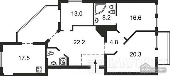 VIP квартира на Майдані, 4-кімнатна (47119), 016