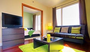 Прекрасная квартира в центре, 2х-комнатная, 003
