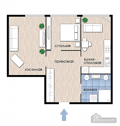 Spacious apartment, One Bedroom (31657), 011