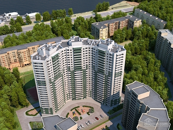 Euro apartment in a new building overlooking the Neva, Studio (42798), 007