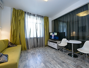 Stylish quiet one bedroom apartment with sofa bed, Una Camera, 002